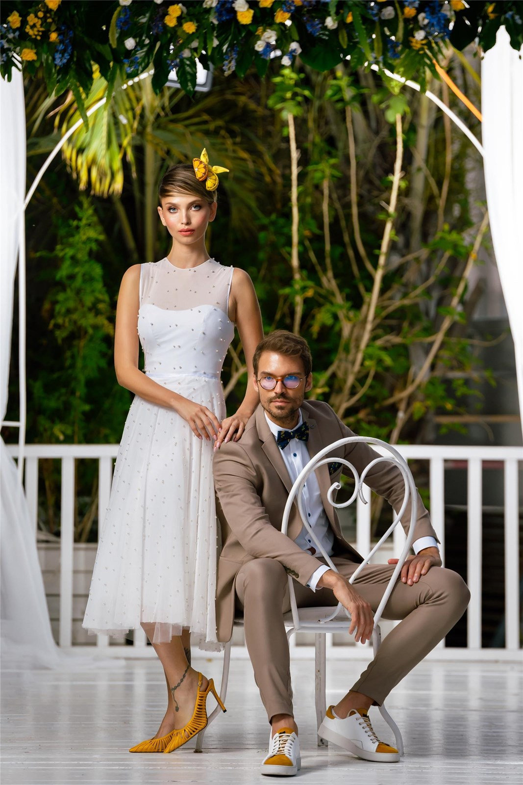 הפקת חתונה צהובה (צילום: מארק מ-Mark 4 wedding)