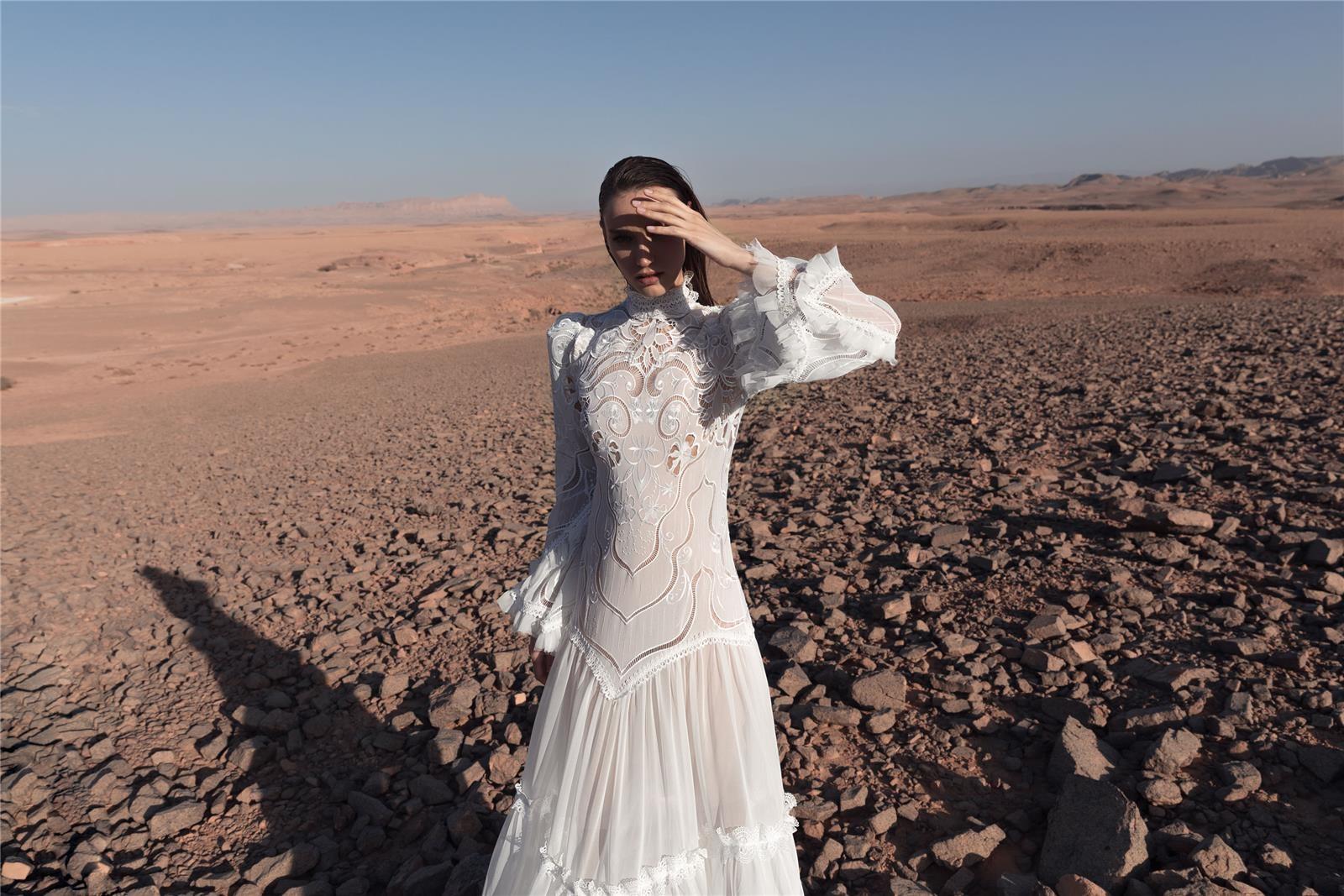 שמלת כלה של מיכל אזולאי (צילום: דניאל אלסטר)