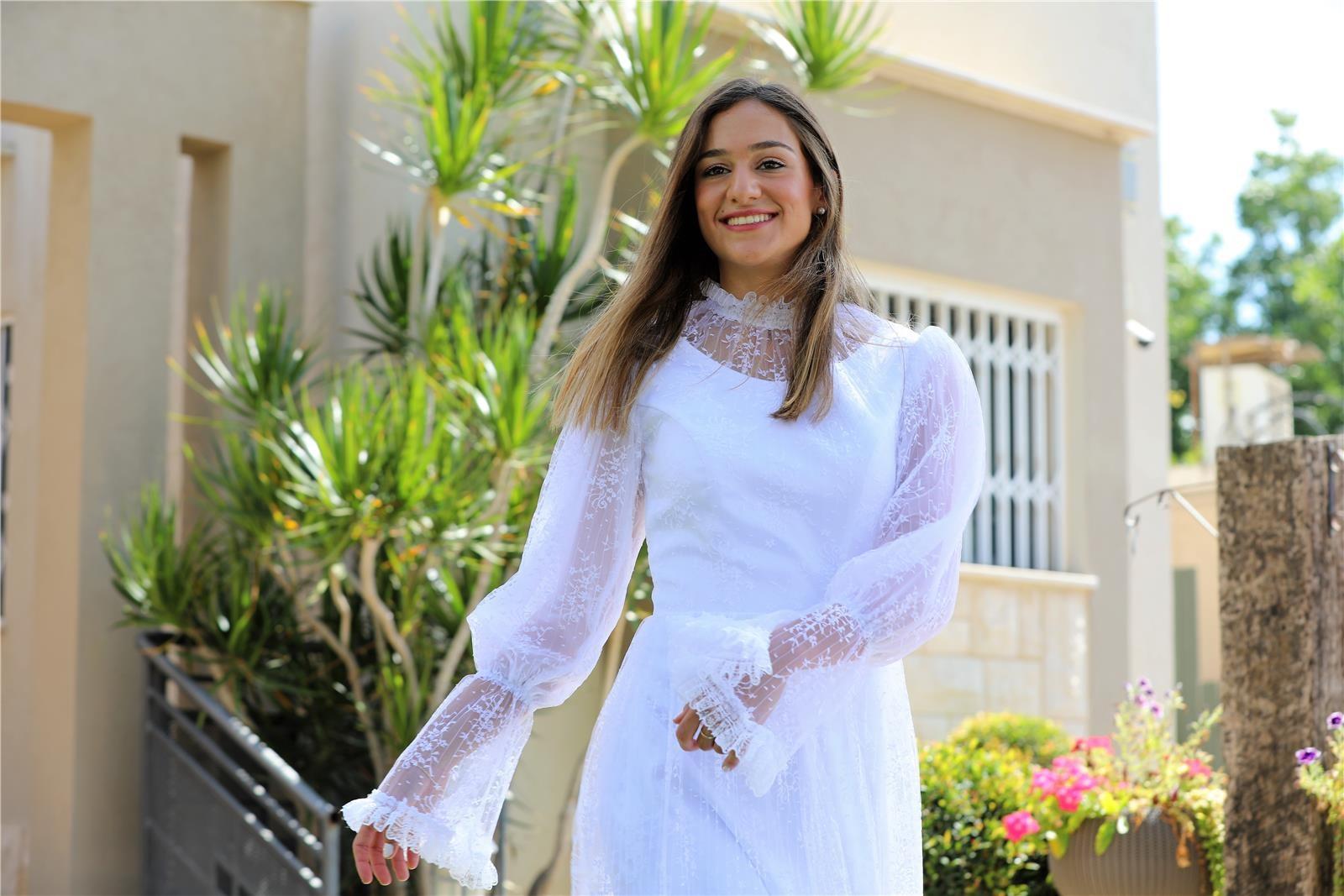 שמלת כלה של מירב מויאל (צילום: אבי ביטון)