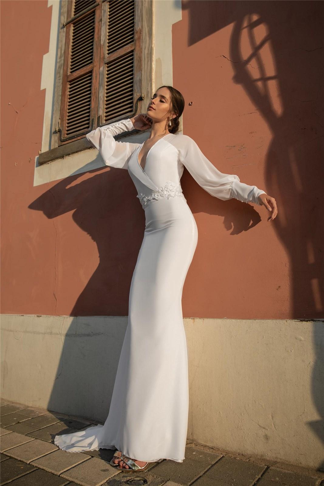 שמלת כלה של יסמין ורסנו (צילום: ולד לימר)