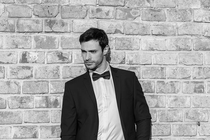 חליפת חתן: קולקציית 2019, חליפת שני חלקים, חליפה בגזרה ישרה, חליפה בדוגמה חלקה, חליפה בצבע שחור - קופיטו