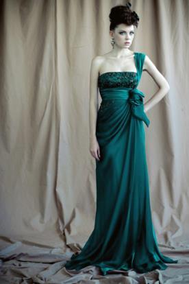 שמלת ערב וינטאג' אסימטרית