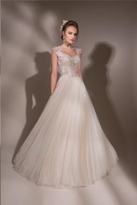 שמלת כלה רומנטית ורוד עתיק