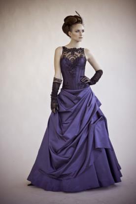 שמלת ערב וינטאג'ית סגולה