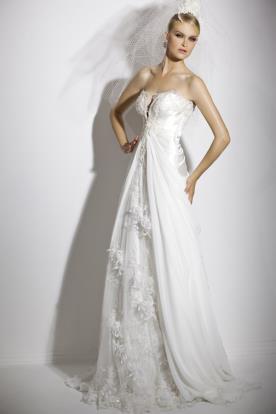 שמלת כלה שיפון נשפך ומחוך