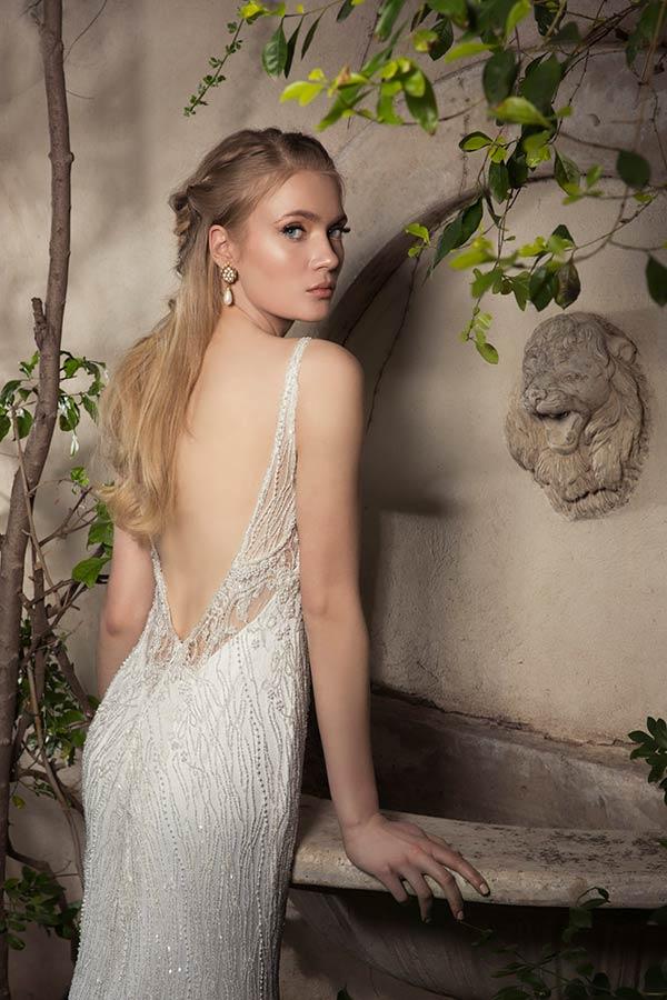 שמלת כלה עם אפליקציית חרוזים של דורין גורן
