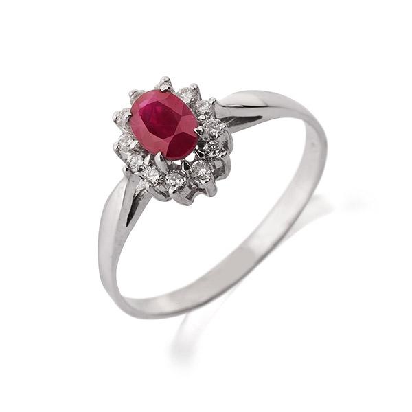 טבעת אירוסין עם רובי
