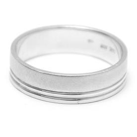 טבעת נישואין זהב לבן פסים