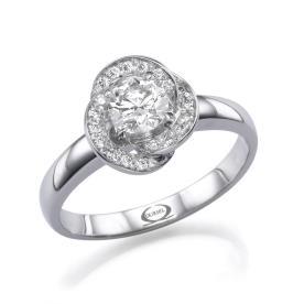 טבעת אירוסין בעיצוב פרח