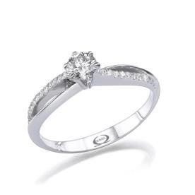 טבעת אירוסין יהלומים מתפתלים