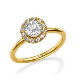 טבעת סוליטייר דקה עדינה