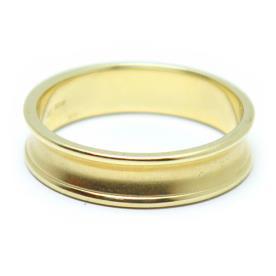 טבעת נישואין זהב צהוב שקוע