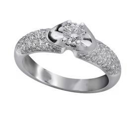 טבעת אירוסין רבחה עדינה זהב לבן