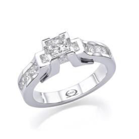 טבעת אירוסין גיאומטרית צרה