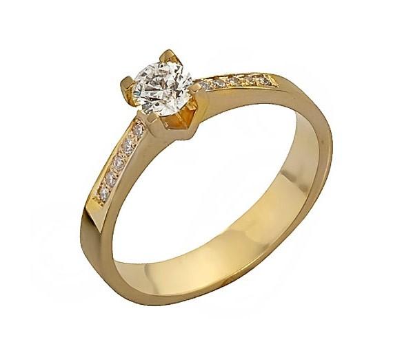 טבעת אירוסין זהב צהוב עדינה