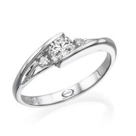 טבעת אירוסין סימטרית אלגנטית