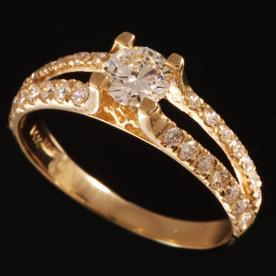 טבעת אירוסין בשתי שורות
