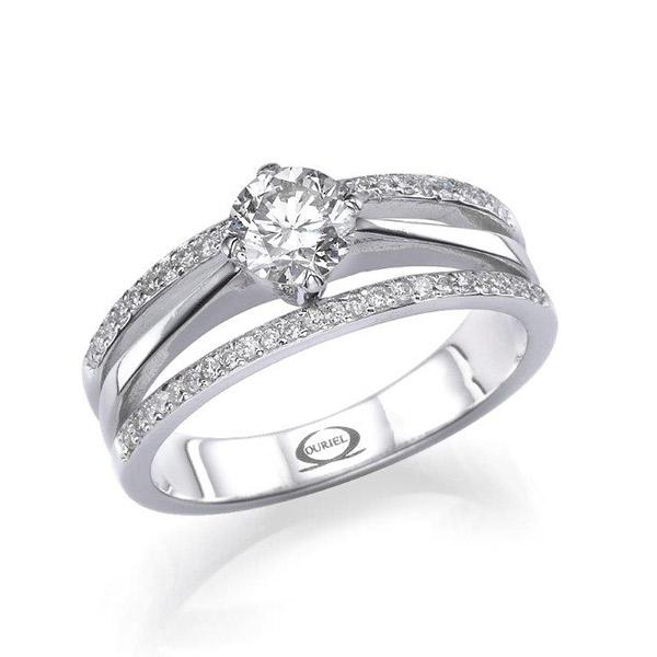 טבעת אירוסין שלוש רצועות