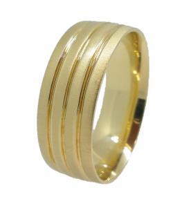 טבעת נישואין רחבה מודרנית