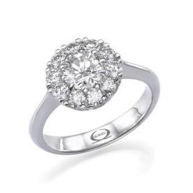 טבעת אירוסין יהלומים במרכז