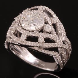 טבעת אירוסין רשת יהלומים