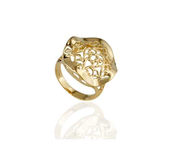 טבעת חותם זהב ללא אבן