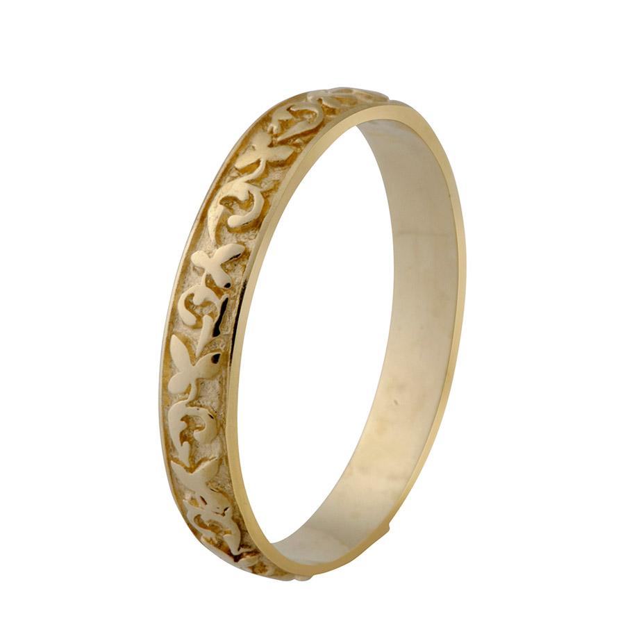 טבעת רומנטית צרה לכלה