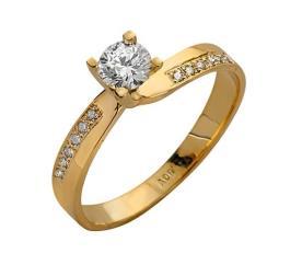 טבעת איריסין שורות יהלומים עדינות