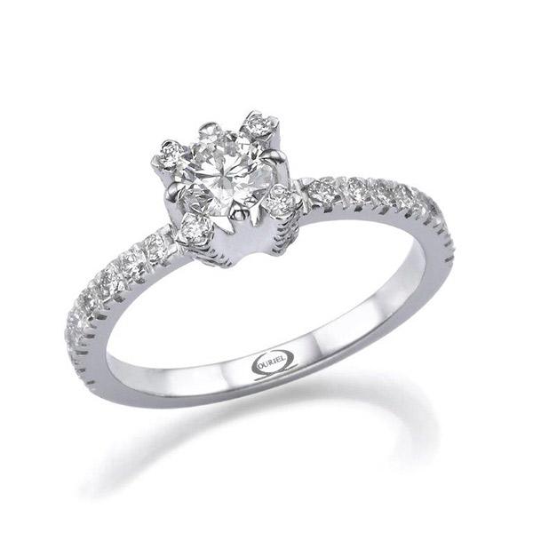 טבעת אירוסין עדינה וקלאסית