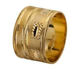 טבעת נישואין רחבה מזהב צהוב