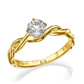 טבעת אירוסין בסגנון קלוע