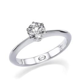 טבעת אירוסין דקה סוליטייר