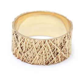 טבעת נישואין פסים אבסטרקטיים