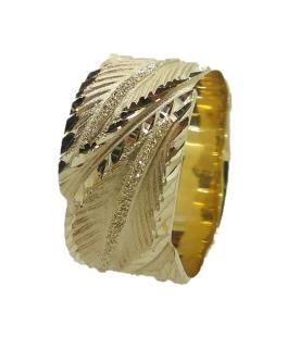 טבעת נישואין מודרנית משוננת