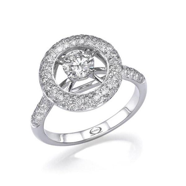 טבעת אירוסין מוקפת בעיגול נוצץ