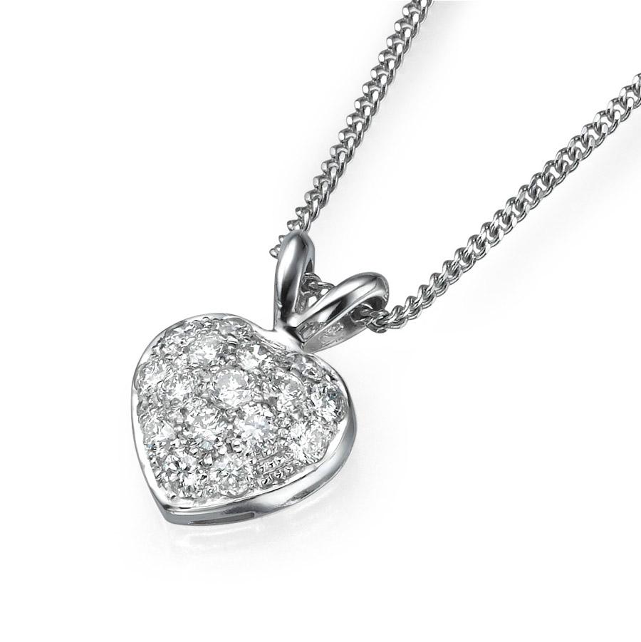 שרשרת יהלומים בדוגמת לב