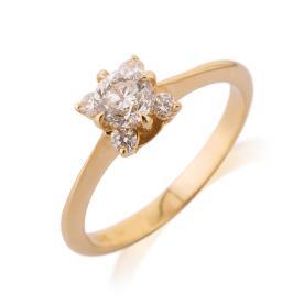 טבעת אירוסין סוליטייר מרובע