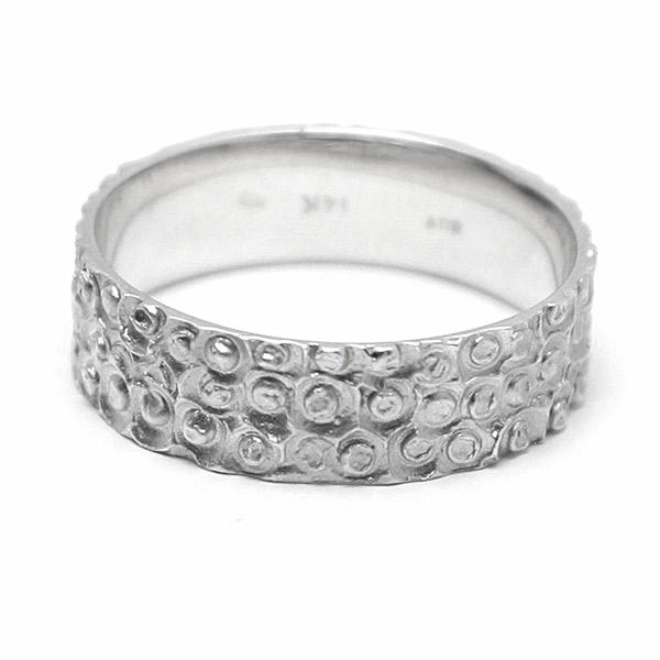 טבעת נישואין שהב לבן עיגולים