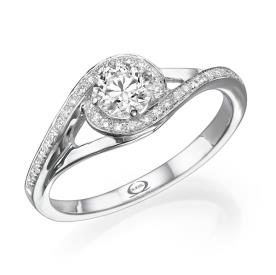טבעת אירוסין גלי יהלומים