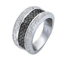 טבעת אירוסין שורת יהלום שחור