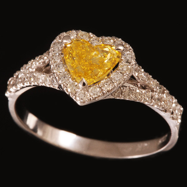 טבעת אירוסין לב סיטרין