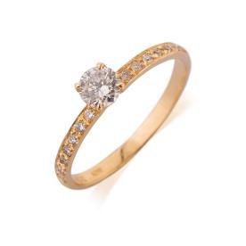 טבעת אירוסין זהב צהוב קלאסית