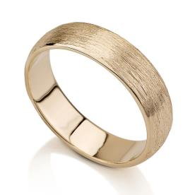 טבעת נישואין ריקועים מחוספסים