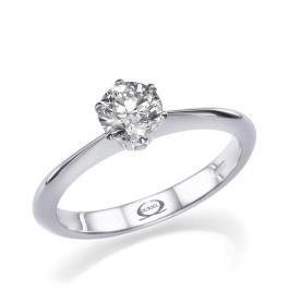 טבעת סוליטייר צרה לכלה