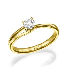 טבעת אירוסין דקה ייחודית