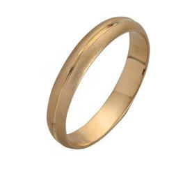 טבעת נישואין זהב פס מרוקע