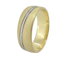 טבעת נישואין משולבת מעוטרת