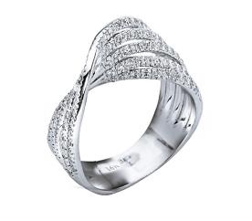 טבעת אירוסין יהלומים קלועים