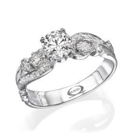 טבעת אירוסין בסגנון רטרו