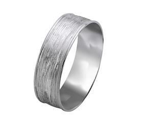 טבעת נישואין זהב לבן מרוקע